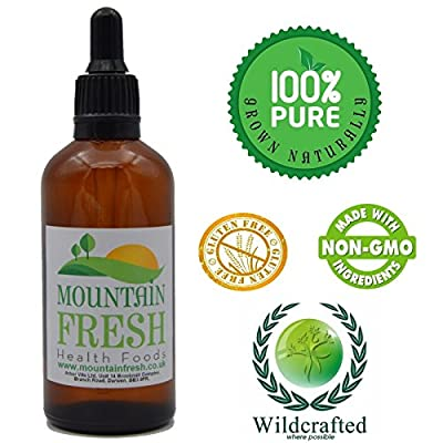 Feverfew Concentrated Max Strength 1:1 50ml Non Alcoholic Tincture by Mountain Fresh
