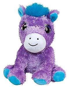 LUMO STARS Pony Carla Animales de Juguete Felpa Azul, Púrpura, Blanco - Juguetes de Peluche (Animales de Juguete, Azul, Púrpura, Blanco, Felpa, 3 año(s), Pony, Niño/niña)