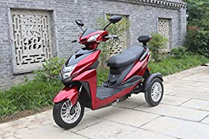 Green Power Three Wheeled Electric Mobility Scooter (Red)