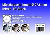 deaL-Toys® 10 Münzkapseln 27,5mm, geeignet für 5 Euro Münze Blauer Planet,Tropische Zone,Subtropische Zone
