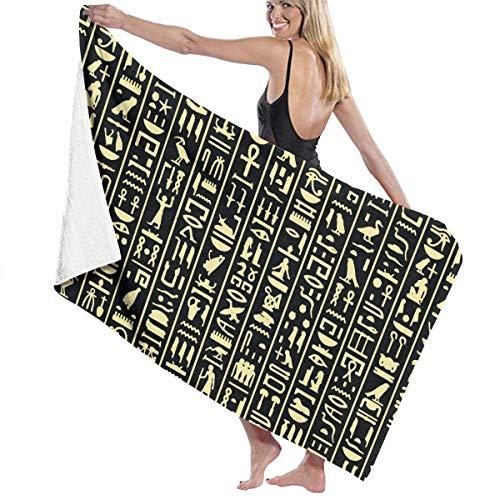 Uosliks Gold Hieroglyphen Strand & Badetuch personalisierte Mikrofaser Handtücher Strand Bad Schwimmen Pool Handtücher Geschenke 32