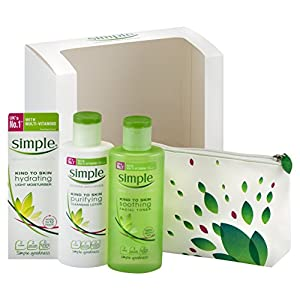 Simple Full Size Skin Care Gift Set + FREE Cosmetic Case