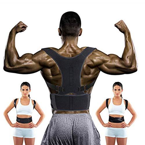 WYQWAN Haltungskorrektur, Geradehalter Schulter Rückenstütze, Ideal Zur Therapie Für Haltungsbedingte Nacken,Rücken Und Schulterschmerzen Für Damen Und Herren(M/LXL),L - Koordiniert 20