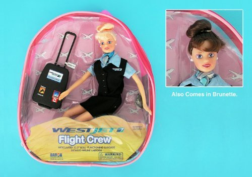 westjet-flight-attendant-doll-w-luggage