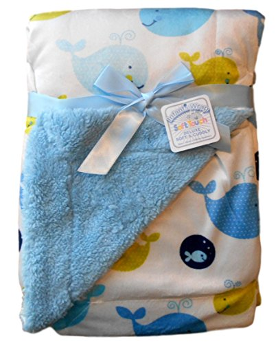 baby-boys-blue-and-white-whale-reversible-infants-wrap-blanket-76cm-x-102cm-approx