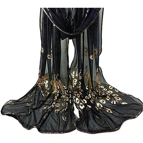Transer® Sciarpa Donna Scialle Sciarpe di Seta Velo Stola Cerimonia Elegante Chiffon per Tenerti al Caldo 170cm 50cm Stole Multicolore Regalo
