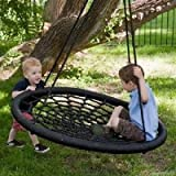 2 Person Giant Kids Outdoor Nest Disc Swing Tree Spider Net Mesh Play Fun Toy