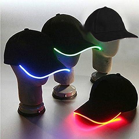 Glow Party Club de luz LED Deportes Atlético Tela Negro Viajes gorra.