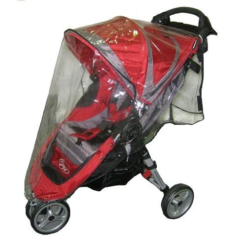 Sasha Kiddie BJC1Mini R Baby Jogger City Mini cochecito individual Rain and Cover Wind - Cochecito no est- incluido