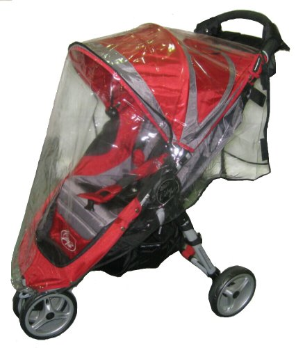 Sasha Kiddie BJC1Mini R Baby Jogger City Mini Single Stroller Rain and Wind Cover - Stroller Not Included