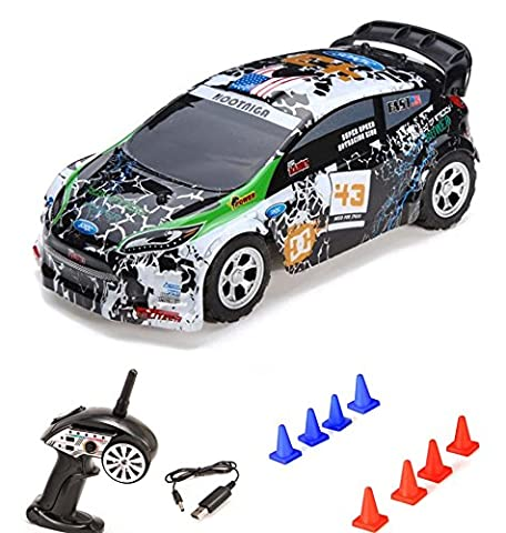 1:24 On-Road 2WD mini RC ferngesteuertes Auto Rally Car, 2.4GHz Digital vollproportionale Steuerung Top-Speed bis zu 25 km/h, Komplett-Set RTR