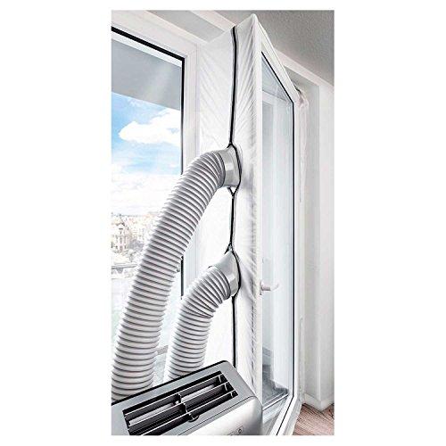 TROTEC AirLock 1000 guarnizione per porta finestra a un'anta o a due ante autonome| per climatizzatori ed essiccatori con scarico esterno dell'aria | Hot Air Stop