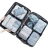 Belsmi Reise Kleidertaschen Set 8-teilig Reisetasche in Koffer Reisegepäck Organizer Kompression...