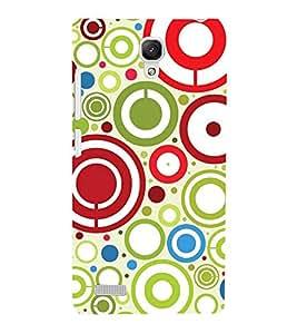 Different Circle 3D Hard Polycarbonate Designer Back Case Cover for Xiaomi Redmi Note :: Xiaomi Redmi Note 4G