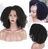 Leomi 9A bouclés Cheveux humains pleine Dentelle Perruques brésiliens vierges Cheveux humains Perruque lace front pour femme noire Naturel Hairline bébé Cheveux non traités Couleur Densité de 150%