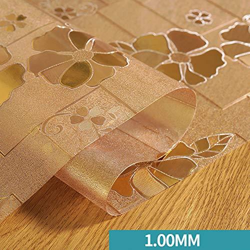 ZXY Wasserdicht PVC Tabelle Cover Protektor pad Kunststoff tischdecken für esstisch Schreibtisch marmor top Table mat Protector-E 70x135cm(28x53inch) -
