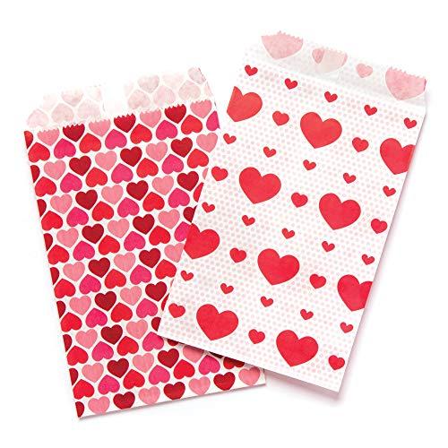 Baker Ross Geschenktüten mit Herzen (30 Stück) - für Kinder zum Basteln und Verzieren zum Valentinstag und Muttertag