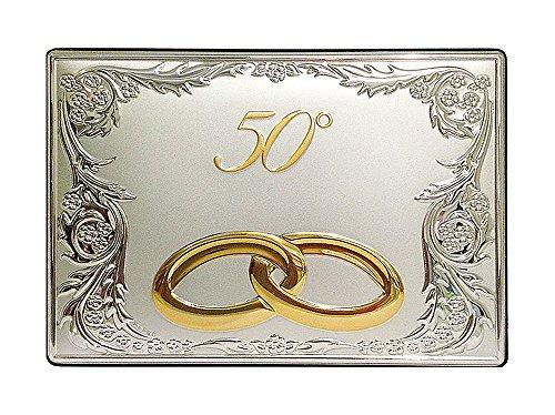 Placa aniversario plata bilamina// 25° 50°/con resguardos/2R