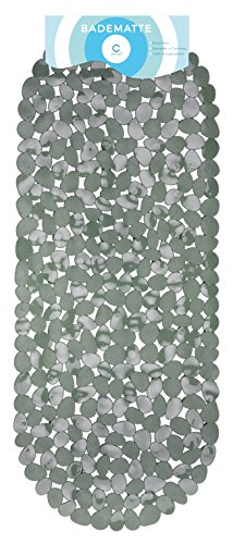 Circul Badewannenmatte 99 x 39 cm grau Steinoptik modern