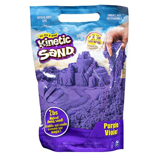 Kinetic Sand 6047184 - Kinetic Sand lila, 900 g, für Sandspiel im Innenbereich, ab 3 Jahren