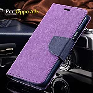 best authentic 44677 dc9bf Thinkzy OP18M6 Flip Cover Case for Oppo A3s (Purple-Blue)