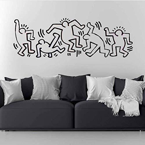 ZHUWall Pegatinas De Pared Mural Keith Haring Kids