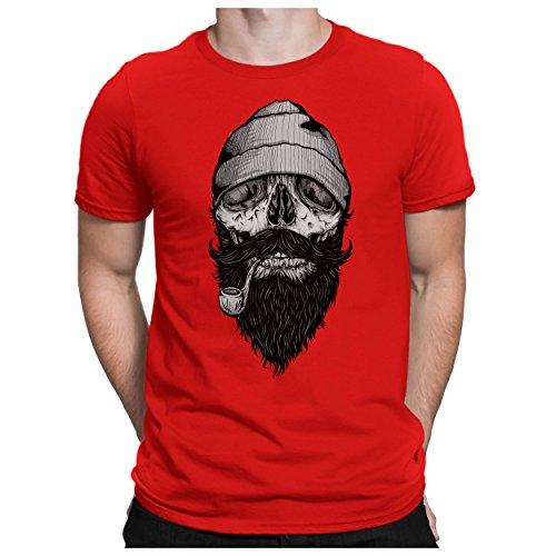 PAPAYANA Bone-Sailor - Herren T-Shirt - Hipster Skull Face Anchor Anker Ship Dope