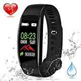 Fitness Tracker, Elec.BGS Wasserdicht IP68 Smart Armband Farbbildschirm Smart Watch mit Pulsmesser Schlaf-Monitor Schrittzähler Kalorien Schrittzähler Armband für Kinder Frauen Männer
