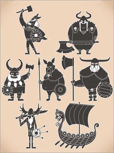 Póster 90 x 120 cm: Fearless Vikings de Kidz Collection/Editors Choice - impresión artística, Nuevo póster artístico