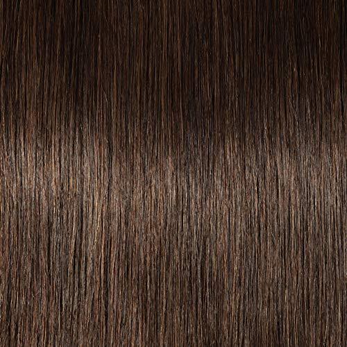 Clip in Extensions Echthaar Remy Haarverlängerung für komplette Haare 8 Tressen Doppelt Dicke 35cm-120g(#2 Dunkelbraun)