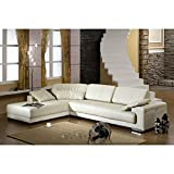 Design Voll-Leder Ecksofa-Sofa-Garnitur-Eckgruppe Ledersofa Ledergarnitur 5042-L-W