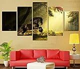 ZhenFa fünf-Linked Mustang Collage rahmenlose 5 Kombination hängen Gemälde (können, doppelseitigem Kleber, wie z.B. Feste oder Frame TA UT-Federung)
