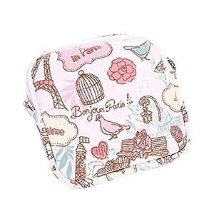 YUELANG Women Girl Cute Sanitary Pad Organizer Purse Holder Napkin Towel Storage Bags Cosmetic Pouch Case Sanitary Napkin Bag