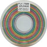 Stronghero3d desktop fdm 3d drucker filament pla regenbogen 1.75mm 1kg (2.2 lbs) dimension genauigkeit von +/-0.05mm