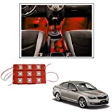 #10: Vheelocityin 9 LED Custom Cuttable Car Red Light for Interior/ Exterior For Skoda Fabia