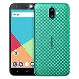 Ulefone S7 Smartphone Libres Baratos Android 7.0, 5 Pulgadas Pantalla, Cámara Triple 8MP+5MP+5MP, Quad Core MTK 6580 1.3GHz, 1GB RAM+8GB ROM, Batería 2500mAh, Doble SIM 3G Teléfono Móvil (Verde)