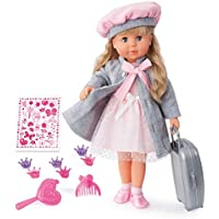 Bayer Design 94635AX Charlene Interactive-Funktionspuppe-46 cm, rosa, grau