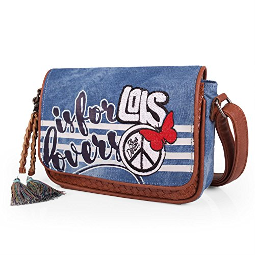 LOIS - BORSA A TRACOLLA 10679 Cowboy blu