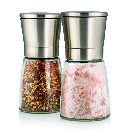 elegant-salt-and-pepper-grinder-set-with-matching-stand-stunning-glass-body-with-adjustable-ceramic-