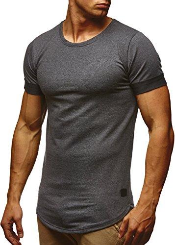 LEIF NELSON Herren T-Shirt Sweatshirt Hoodie Hoody LN6368; Größe M, Anthrazit