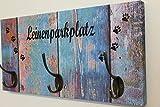 manyboards Hundegarderobe DogBoard Leinenparkplatz Hakenleiste Leine Garderobe Design Blue Wood 3 Haken B: 40cm H: 20cm T: 1,9cm
