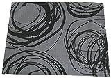 beties Mystik Platzset ca. 35x45 cm abstraktes Kringel-Design in schwarz auf dunklem Background in 100% Baumwolle Platin-Schwarz