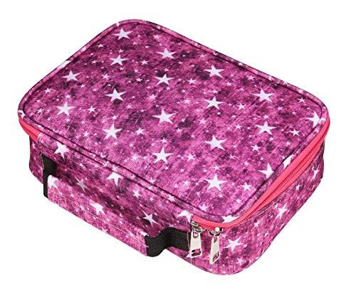 Edatofly 72 slot matite astuccio multifunzione grande astuccio borsa matite per ragazzi e ragazze (rosa rossa)