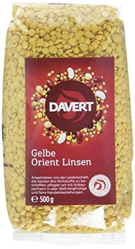 Davert Gelbe Orient Linsen, 4er Pack (4x 500 g) - Bio