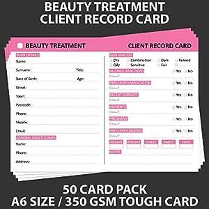 posh panda beauty client record card treatment