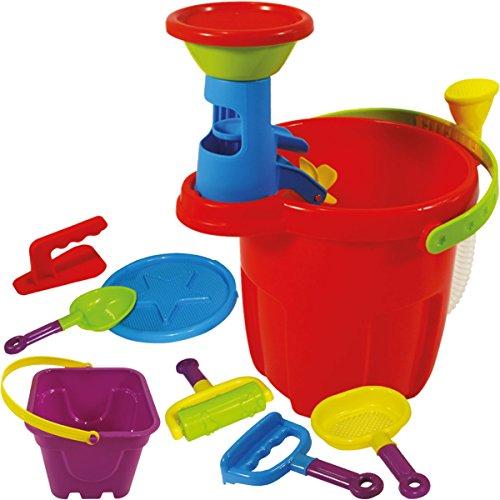 Stimo24 Sandeimer / Gießeimer mit Wasserschlauch Set (13-teilig) Kinder Sandspielzeug / Strandspielzeug