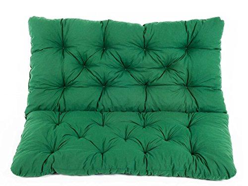 Ambientehome Sitzkissen und Rückenkissen Bank Hanko, grün, ca 100 x 98 x 8 cm, Bankauflage, Polsterauflage