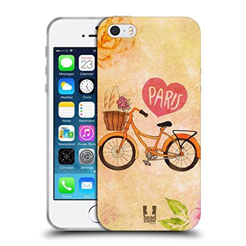 Head Case Designs Irgendwann In Paris Ich Träume Von Paris Soft Gel Hülle für Apple iPhone 6 Plus / 6s Plus Fahrrad