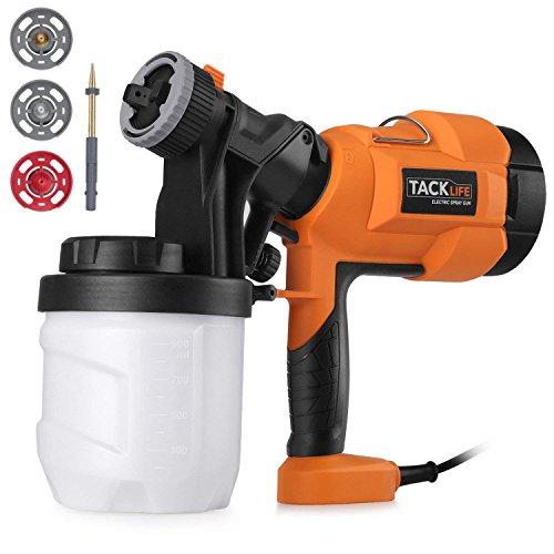 Pulvérisateur de peinture TACKLIFE 800 ml / min, pistolet électrique avec trois modèles de...