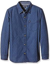 TOMMY HILFIGER KIDS Lior Shirt L/S, Camisa para Niños, Azul, 14